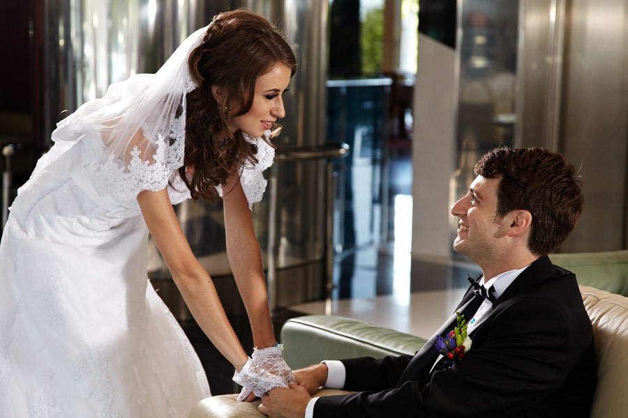 in holul hotelului inainte de nunta