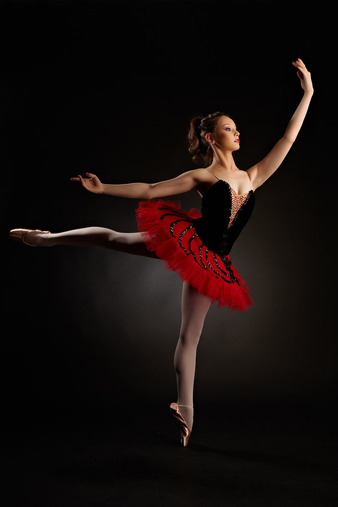 studio foto cu balerina